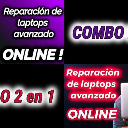 Combo 2 en 1 (Nivel 1 y 2 del curso reparación de laptops avanzado)